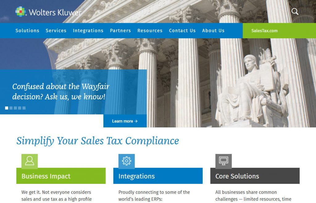 WK salestax website